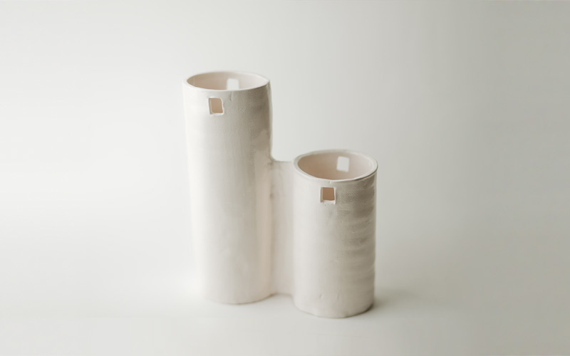 Photo of double silo vase