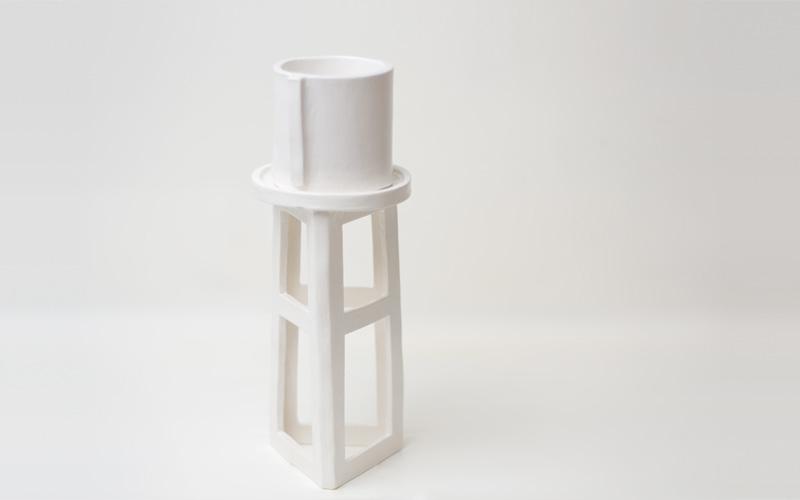 Up In The Air Somewhere Ceramics Medium White Watertower