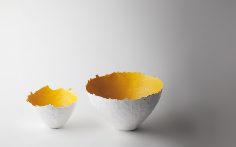 Photo of yellow color burst bowl