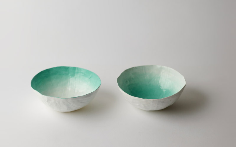 Photo of small yellow bowls