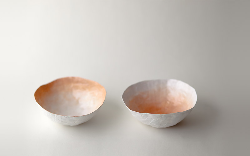 Photo of small peach bowls