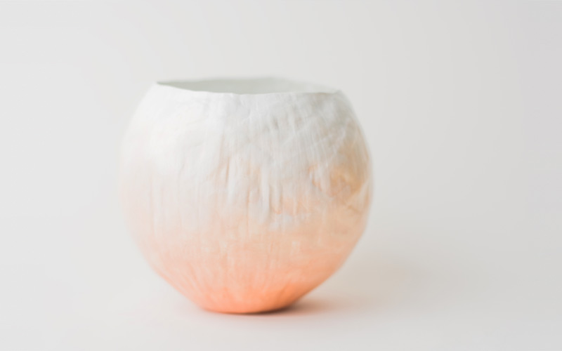 Photo of peach fade vessel