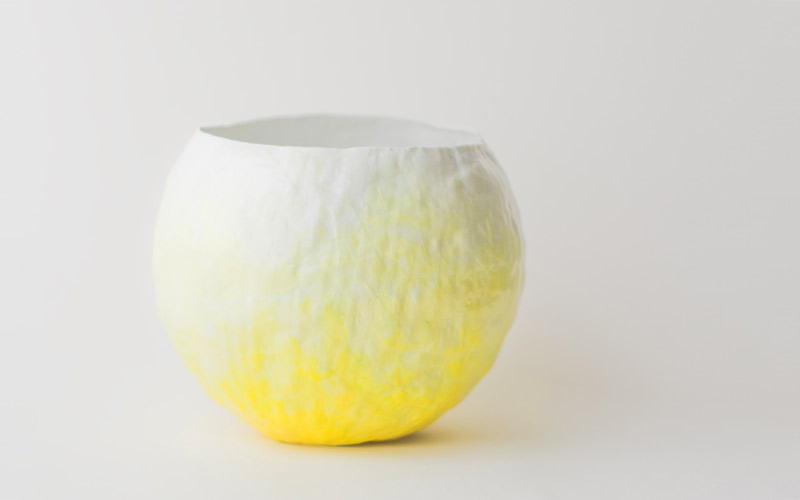 Photo of yellow fade vessel